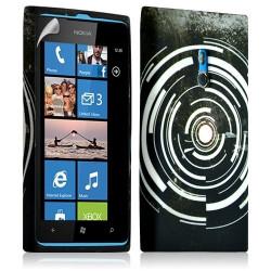 Housse coque étui gel pour Nokia Lumia 800 motif LM13 + Film protecteur