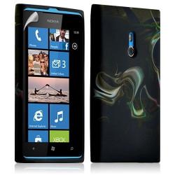 Housse coque étui gel pour Nokia Lumia 800 motif LM14 + Film protecteur