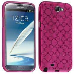Housse étui coque Hydrogel transparent pour Samsung Galaxy Note 2 couleur Rose Fushia