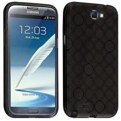 Housse étui coque Hydrogel transparent pour Samsung Galaxy Note 2 couleur Noir