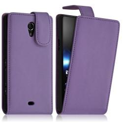 Housse coque étui pour Sony Xperia T couleur Violet