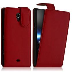 Housse coque étui pour Sony Xperia T couleur Rouge