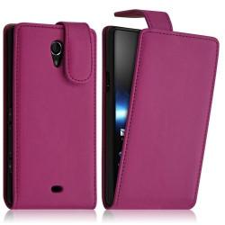 Housse coque étui pour Sony Xperia T couleur Rose Fuschia