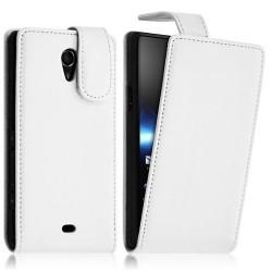 Housse coque étui pour Sony Xperia T couleur Blanc