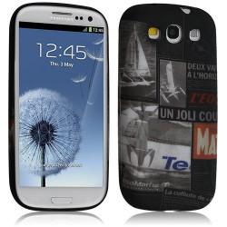 Housse coque étui gel pour Samsung Galaxy S3 i9300 motif LM17
