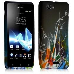 Housse étui coque gel pour Sony Xperia J Motif HF34