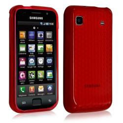 Coque gel pour Samsung Galaxy SCL i9003 motif couleur rouge transparent