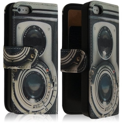 Housse coque étui portefeuille pour Apple Iphone 5 avec Motif SC10