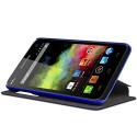 Housse Coque Etui S-View Fonction support Couleur Bleu pour Wiko Rainbow + Film de Protection
