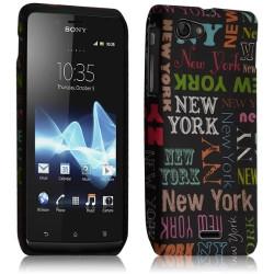 Housse étui coque gel pour Sony Xperia J Motif LM20