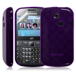 Coque étui housse en hydro gel pour Samsung Chat 335 S3350 Couleur Violet