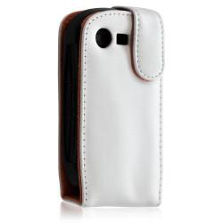 Housse étui portefeuille pour Samsung C3510 Player Light / C3510 Corby Pop couleur orange + film de protection