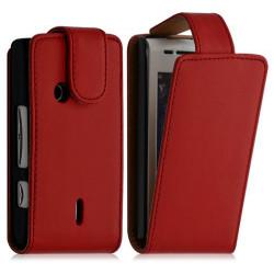 Housse Coque Etui pour Sony Ericsson Xperia X8 Couleur Rouge