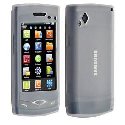 Housse étui coque en gel transparent pour Samsung Wave s8500 motif damier translucide