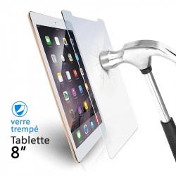 Verre Trempé Universel pour Tablettes 8 pouces (dimensions 12 x 20,4cm)