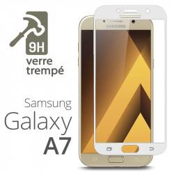 Protection Écran Vitre en Verre Trempé Bords Blanc pour Samsung Galaxy A7 (2017)