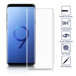 Protection Écran Vitre en Verre Trempé Bords Noir pour Samsung Galaxy edge