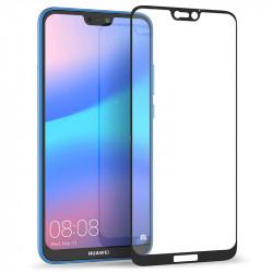Protection Écran Vitre en Verre Trempé Bords Blanc pour Huawei P20 Lite