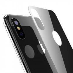 Protection Arrière en Verre Trempé Noir pour Apple iPhone X