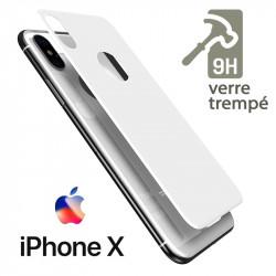 Protection Arrière en Verre Trempé blanc pour Apple iPhone X
