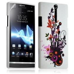 Housse coque étui gel pour Sony Xperia S motif HF12+ Film protecteur