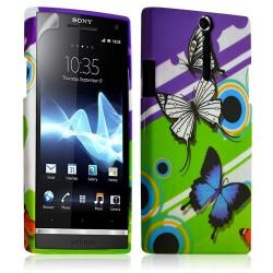Housse coque étui gel pour Sony Xperia S motif HF22+ Film protecteur