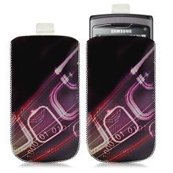 Housse coque étui pochette pour Samsung Wave S8500 avec motif HF07