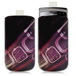 Housse coque étui pochette pour Samsung Wave 2 S8530 avec motif HF07