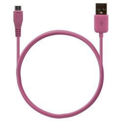 Câble data usb charge 2en1 couleur Rose pour BlackBerry : Bold 9700 / Bold 9780 / Bold 9790 / Bold 9900 / Curve 3G 9300 / Curve