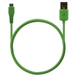 Câble data usb charge 2en1 couleur Vert pour Sony Xperia S