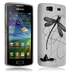 Housse coque etui gel pour Samsung Wave 3 S8600 avec motif LM01