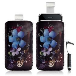 Housse coque étui pochette pour Apple Ipod Touch 1G/2G/3G/4G avec motif + stylet mini