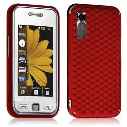 Housse coque étui en gel pour Samsung Player One S5230 couleur rouge