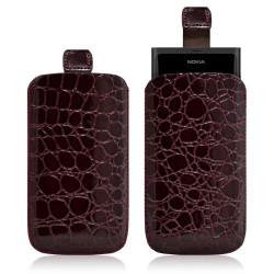 Housse coque étui pochette style croco pour Nokia Lumia 800