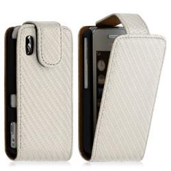 Housse coque étui gaufré pour Samsung Player One S5230 couleur blanc nacré