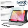 Pack Étui Motif SC04 + Verre Flexible + Stylet pour EssentielB Smart'Tab 1005