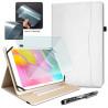 """Pack Étui de Protection Blanc + Verre Flexible + Stylet pour Artizlee ATL-21X 10,1"""""""