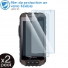 Verre Fléxible Dureté 9H pour Smartphone i.safe IS725.2 (Pack x2)
