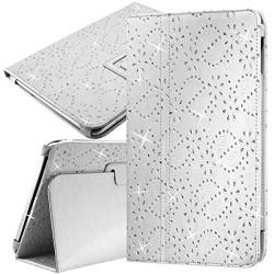 """Housse Etui Universel Style Diamant Couleur Blanc pour Tablette Apple iPad Air 2 9,7"""""""