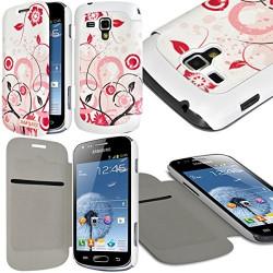 Etui à rabat latéral et porte-carte pour Samsung Galaxy S Duos avec motif HF30 + Film de Protection