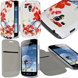 Etui à rabat latéral et porte-carte pour Samsung Galaxy S Duos avec motif KJ12 + Film de Protection