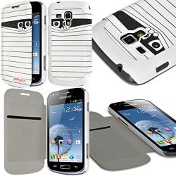 Etui à rabat latéral et porte-carte pour Samsung Galaxy S Duos avec motif SC04 + Film de Protection