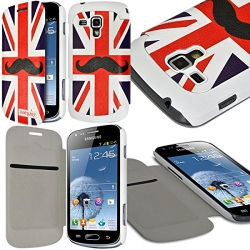 Etui Porte-carte pour Samsung Galaxy Trend Plus motif KJ22 + Film de Protection