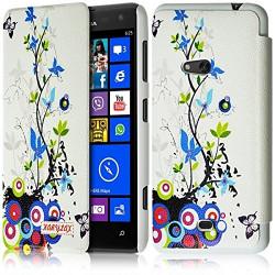 Etui à rabat latéral et porte-carte pour Nokia Lumia 625 avec motif HF01 + Film de Protection