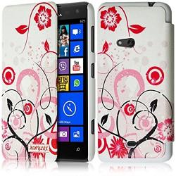 Etui à rabat latéral et porte-carte pour Nokia Lumia 625 avec motif HF30 + Film de Protection