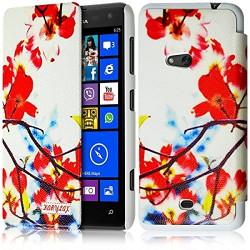 Etui à rabat latéral et porte-carte pour Nokia Lumia 625 avec motif KJ12 + Film de Protection