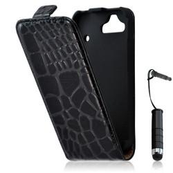 Housse étui coque style crocodile pour HTC Rhyme G20 + mini stylet