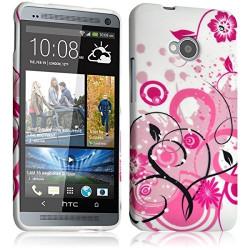 Housse Etui Coque Semi Rigide pour HTC One M7 avec motif HF30 + Film de Protection