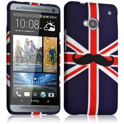 Housse Etui Coque Semi Rigide pour HTC One M7 avec motif KJ22 + Film de Protection