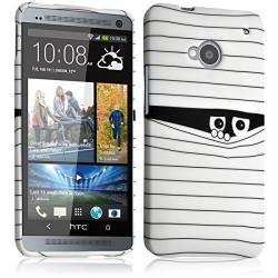 Housse Etui Coque Semi Rigide pour HTC One M7 avec motif SC04 + Film de Protection